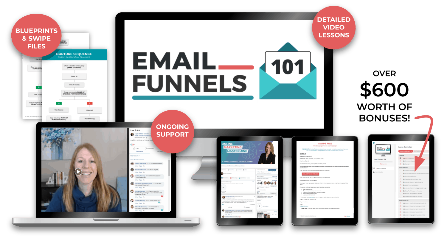 email funnels course image