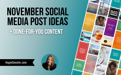 November Social Media Post Ideas + Done-For-You Content